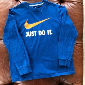 3/$21 Nike Just Do It Longsleeve TShirt YL